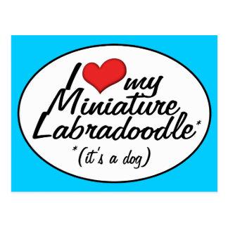 It's a Dog! I Love My Miniature Labradoodle Postcard