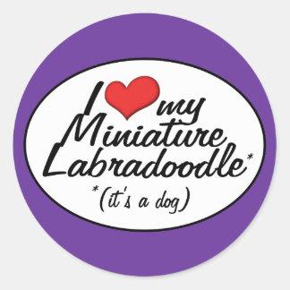 It's a Dog! I Love My Miniature Labradoodle Round Sticker