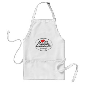 It's a Dog! I Love My Miniature Labradoodle Standard Apron