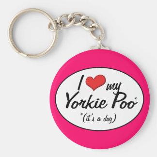 It's a Dog! I Love My Yorkie Poo Basic Round Button Keychain