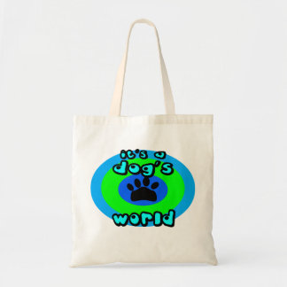 It's A Dog's World Canvas Bag