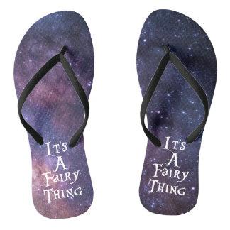 It's A Fairy Thing (Galaxy) Flip Flops