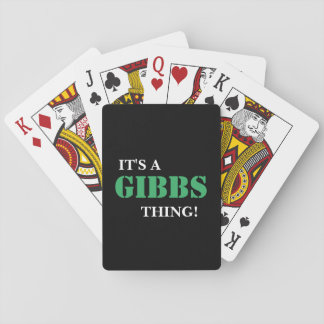 IT'S A GIBBS THING! POKER DECK