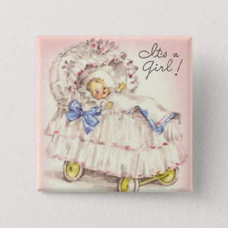 It's a girl! 2 inch square button
