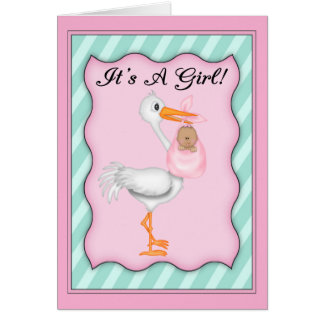 It's a Girl African American  Baby Card