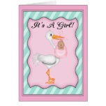 It's a Girl African American  Baby Greeting Card