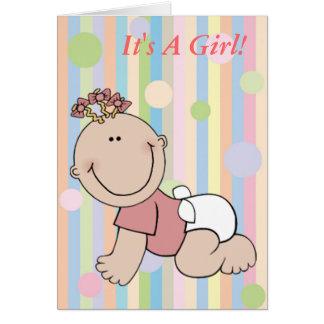 Its A Girl Announcement Card