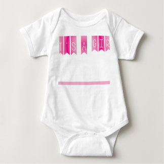 It's a girl baby bodysuit