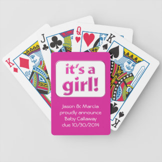 It's a girl! Baby Gender Reveal Cards