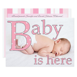 Its a Girl, Baby is Here, Birth Announcements