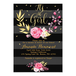 Its a Girl Baby Shower Invitation