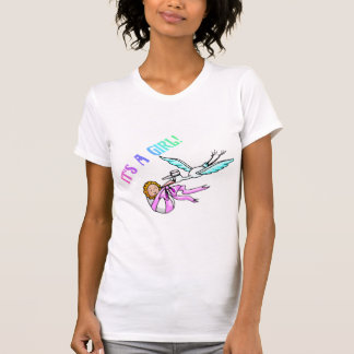 It's A Girl (Baby/Stork) T-Shirt