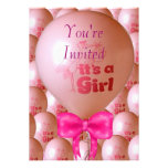 It's a Girl Balloon Shower Invitation