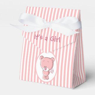 It's a Girl Bear Tent Favor Box