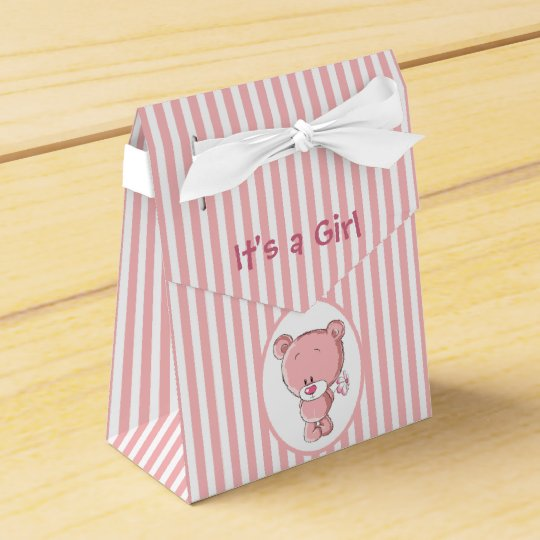 It's a Girl Bear Tent Favour Box