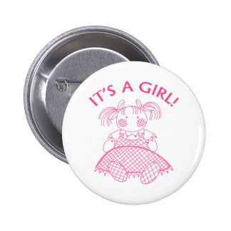 It's A Girl! Pins