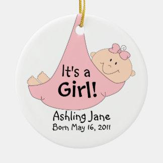It's a Girl! Ceramic Ornament