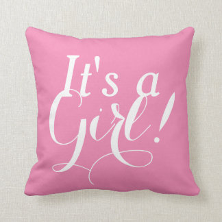 It's a Girl! Cushion Pink