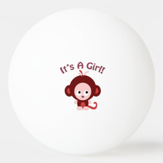 It's a girl! Cute Monkey Ping Pong Ball
