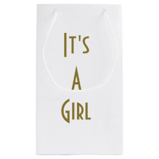 Its A Girl Gift back Mid Century Small Gift Bag
