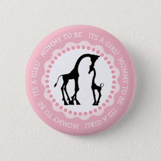 Its a Girl Giraffe Baby Shower Button
