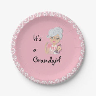 It's a Girl Grandmother Plate
