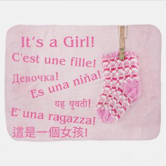 It's a Girl! International Baby Blanket Pink