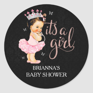 It's a Girl  It's a Girl Baby Shower Classic Round Sticker