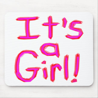 It's a Girl! Mouse Pad