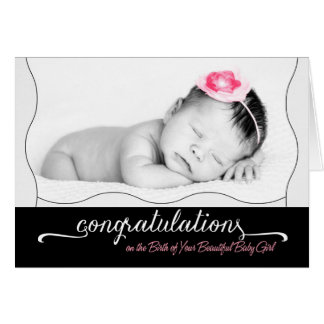 It's a Girl! New Baby Congratulations for Parents Card