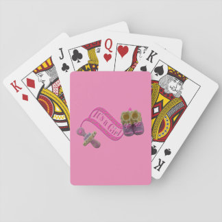 It's a Girl Pacifier Shoes Playing Cards