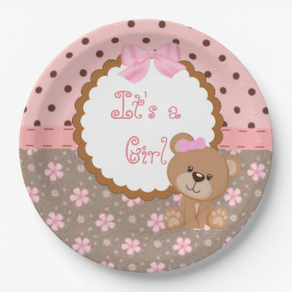 It's a Girl Paper Plate