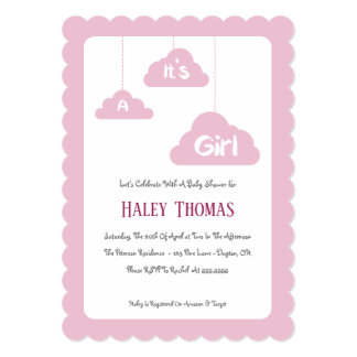 It's A Girl – Pink Baby Shower Invitation