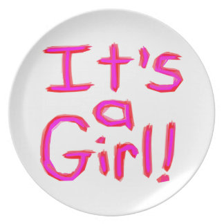 It's a Girl! Plate
