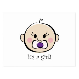 Its a Girl Postcard