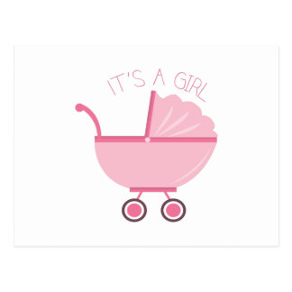 Its A Girl Postcard