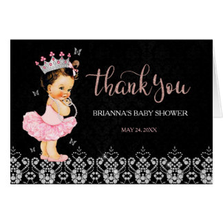 It's a Girl Princess Baby Shower Thank You Card