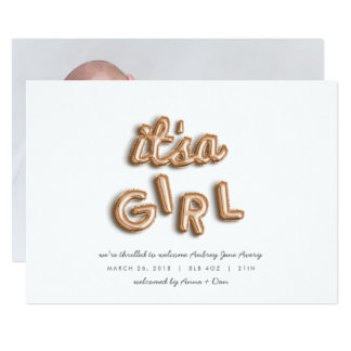 its a girl! Rose gold. Card