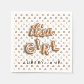 ITS a girl! Rose gold NAPKIN Disposable Napkins