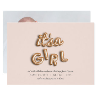 its a girl! Rose gold/PINK Card