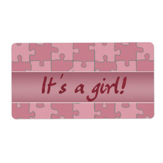 It's a girl! shipping label