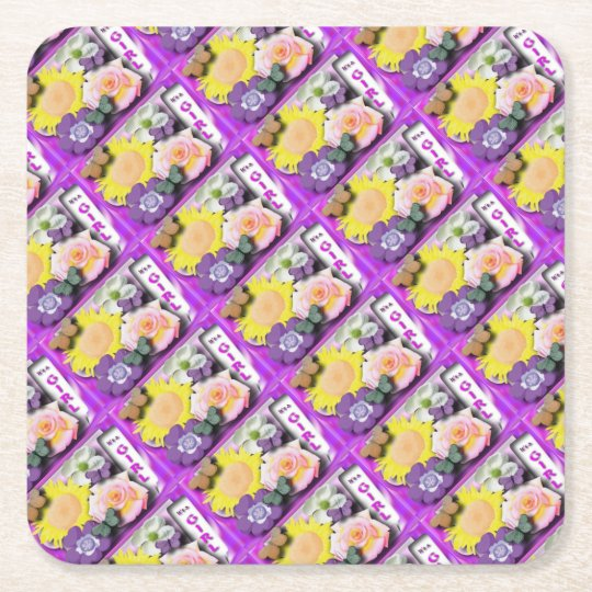 It's a girl square paper coaster