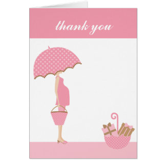 {it's a girl!} thank you note [pink] note card