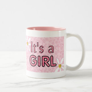 It's a Girl Two-Tone Coffee Mug
