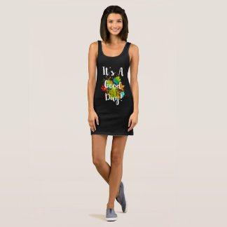 It's A Good Day Abstract Floral Sleeveless Dress