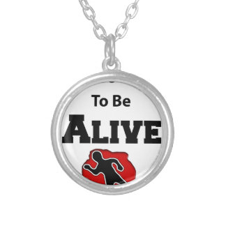 It's a Good Day To Alive Silver Plated Necklace
