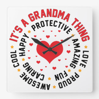 It's a Grandma Thing Square Wall Clock
