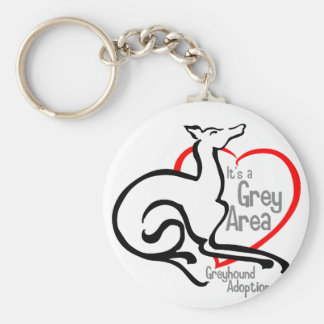 It's a Grey Area Logo Basic Round Button Keychain