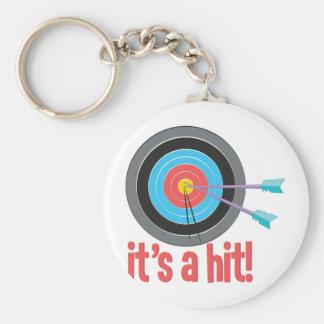 Its A Hit Basic Round Button Keychain