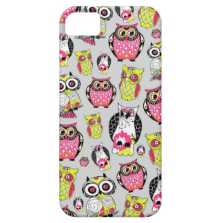 It's a hoot, goofy, girly owl print. iPhone 5 cases